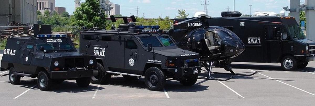 Metropolitan Nashville Police Department vehicles.