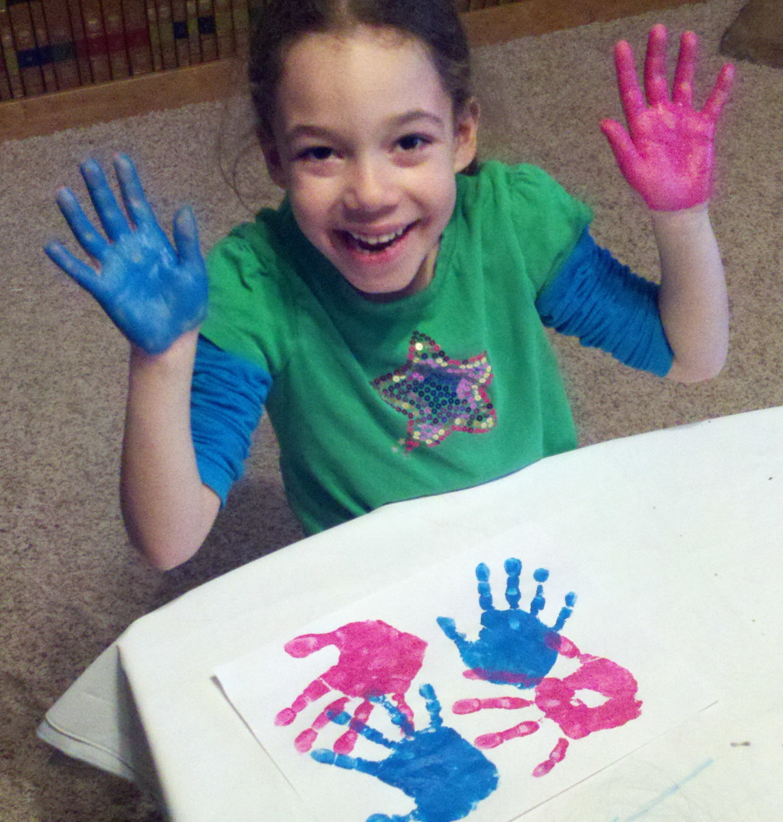 Another sensory experience for your children - painting their hands and decorating the feely tube.