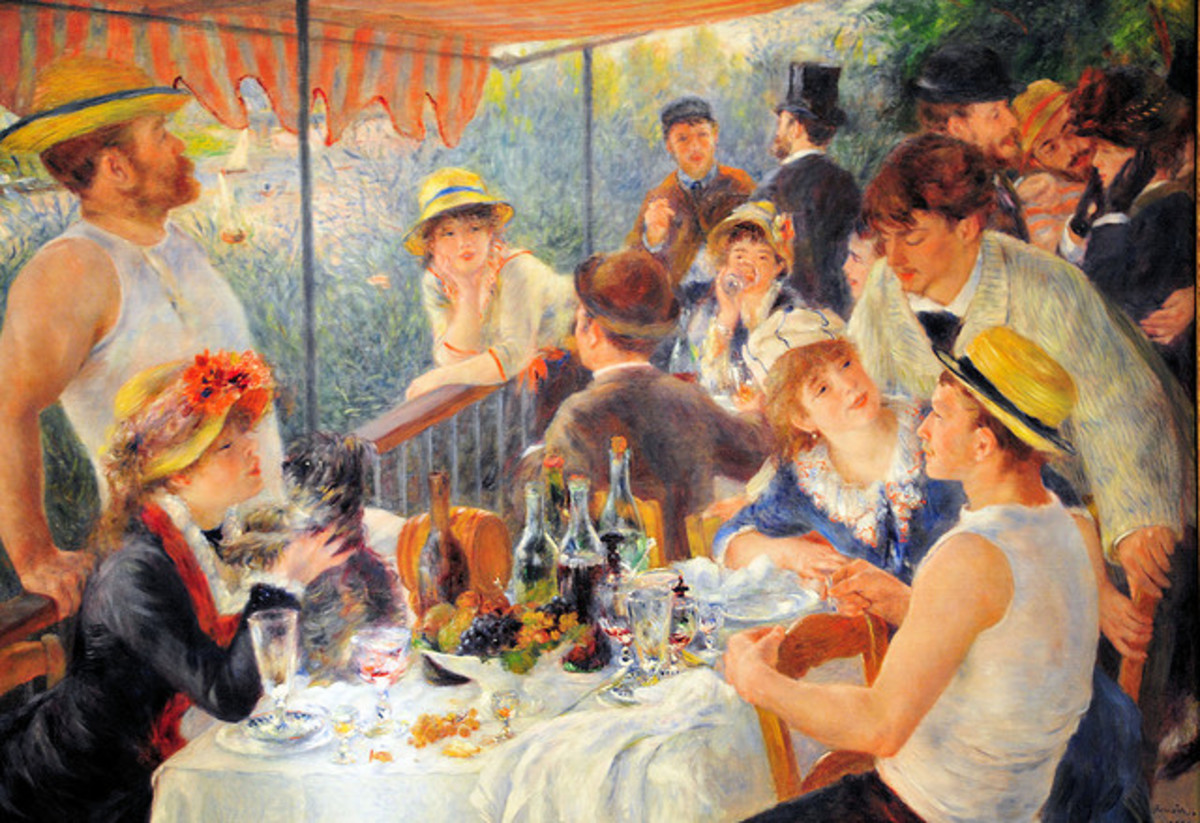 3.Luncheon of the boating party: By Pierre Auguste Renoir