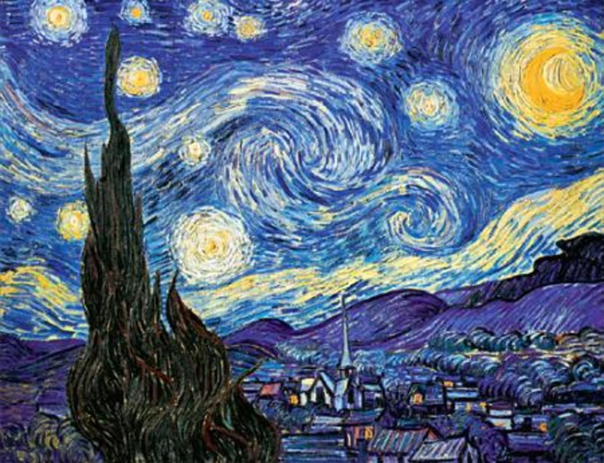 2. Starry Night: By Vincent Van Gogh.