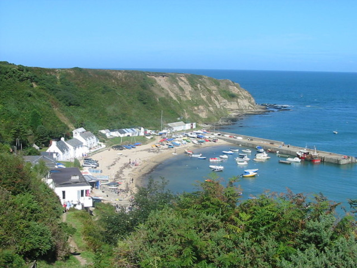 The Small Coastal Town of Nefyn, that was sacked by Edward in 1294.