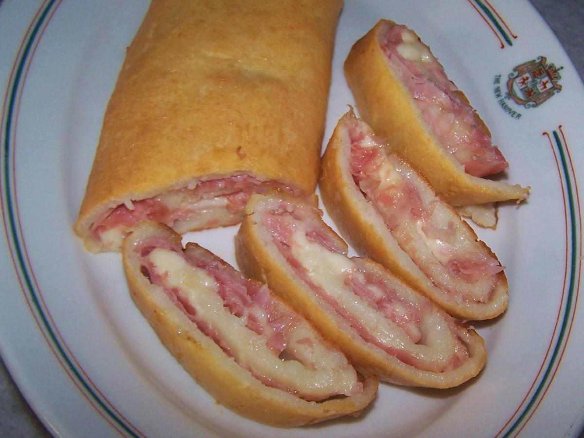 Ham and Cheese Stromboli - Gluten Free