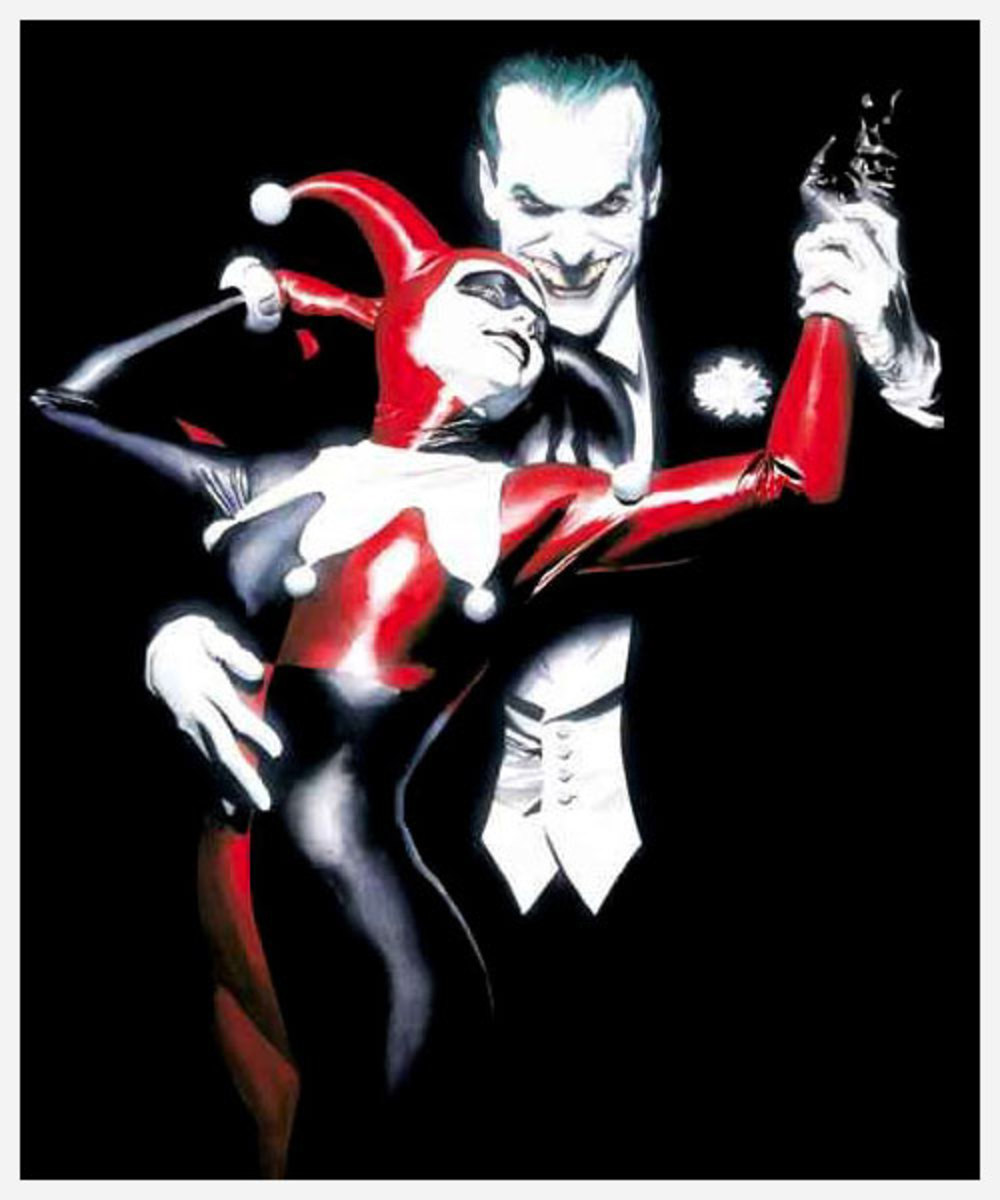 Alex Ross- Harley Quinn & The Joker from the Batman Comics