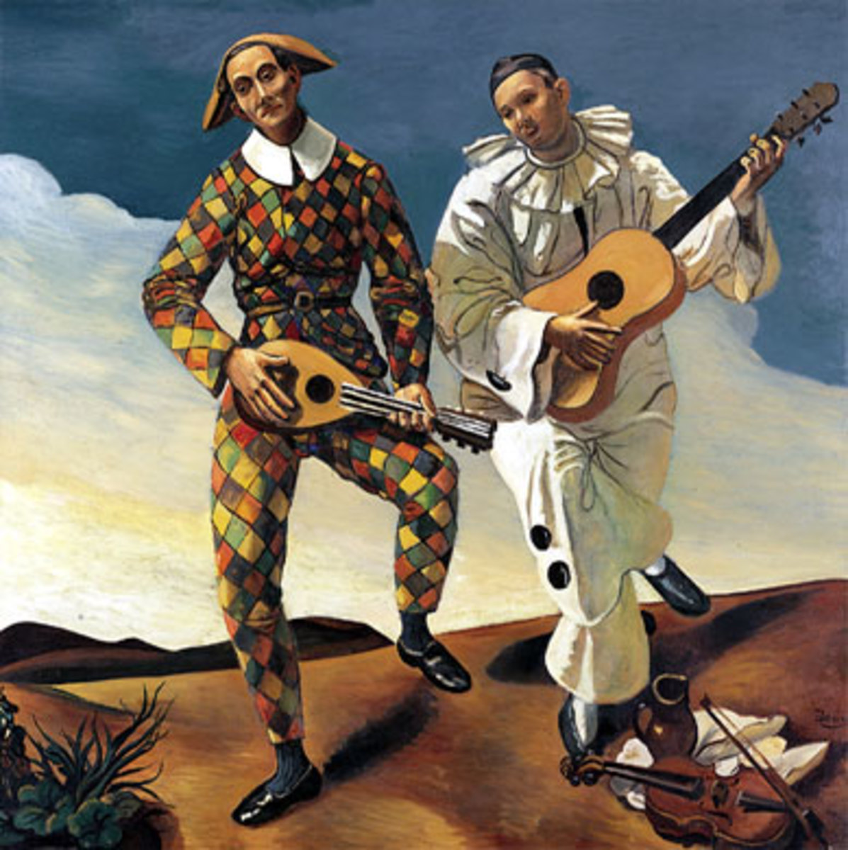 Harlequin and Pierrot, André Derain c.1924