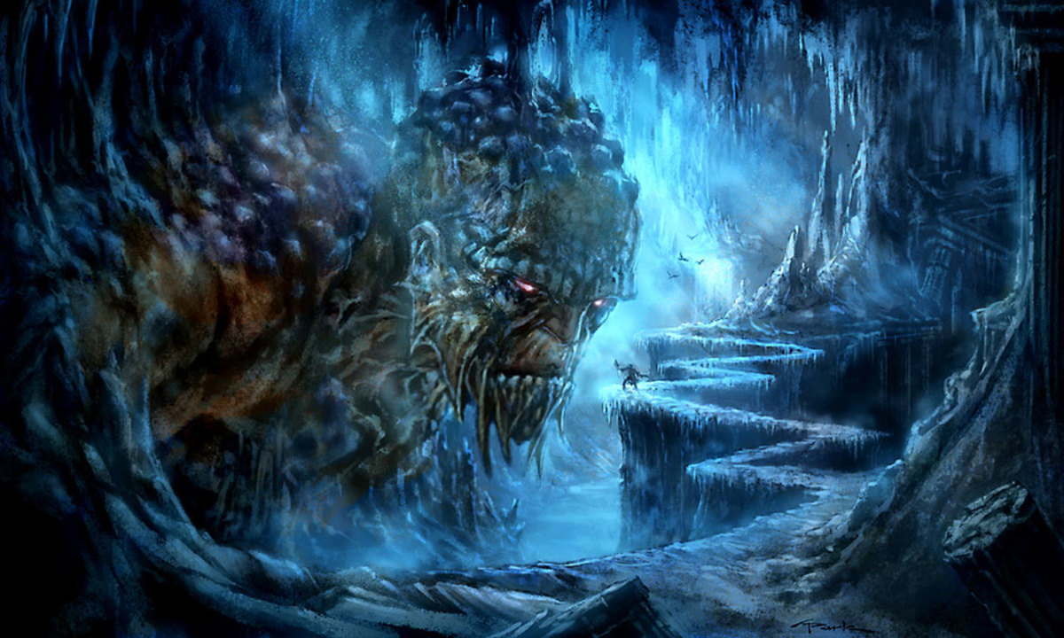 Typhon as depicted in the 'God of War' games