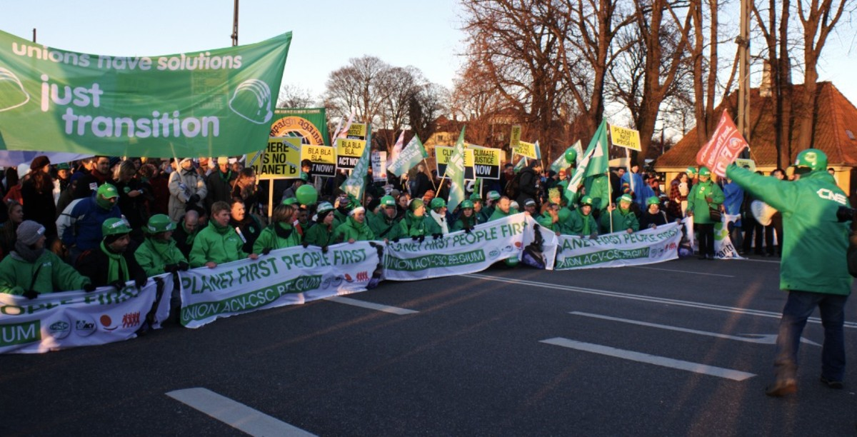 Demonstration during the disastrous Copenhagen climate summit