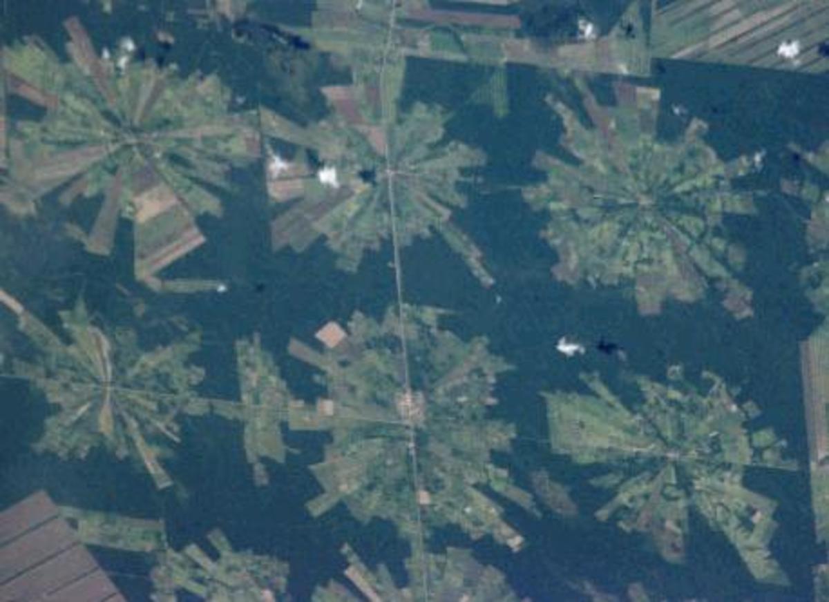 Nasa photo of deforestation in Bolivia