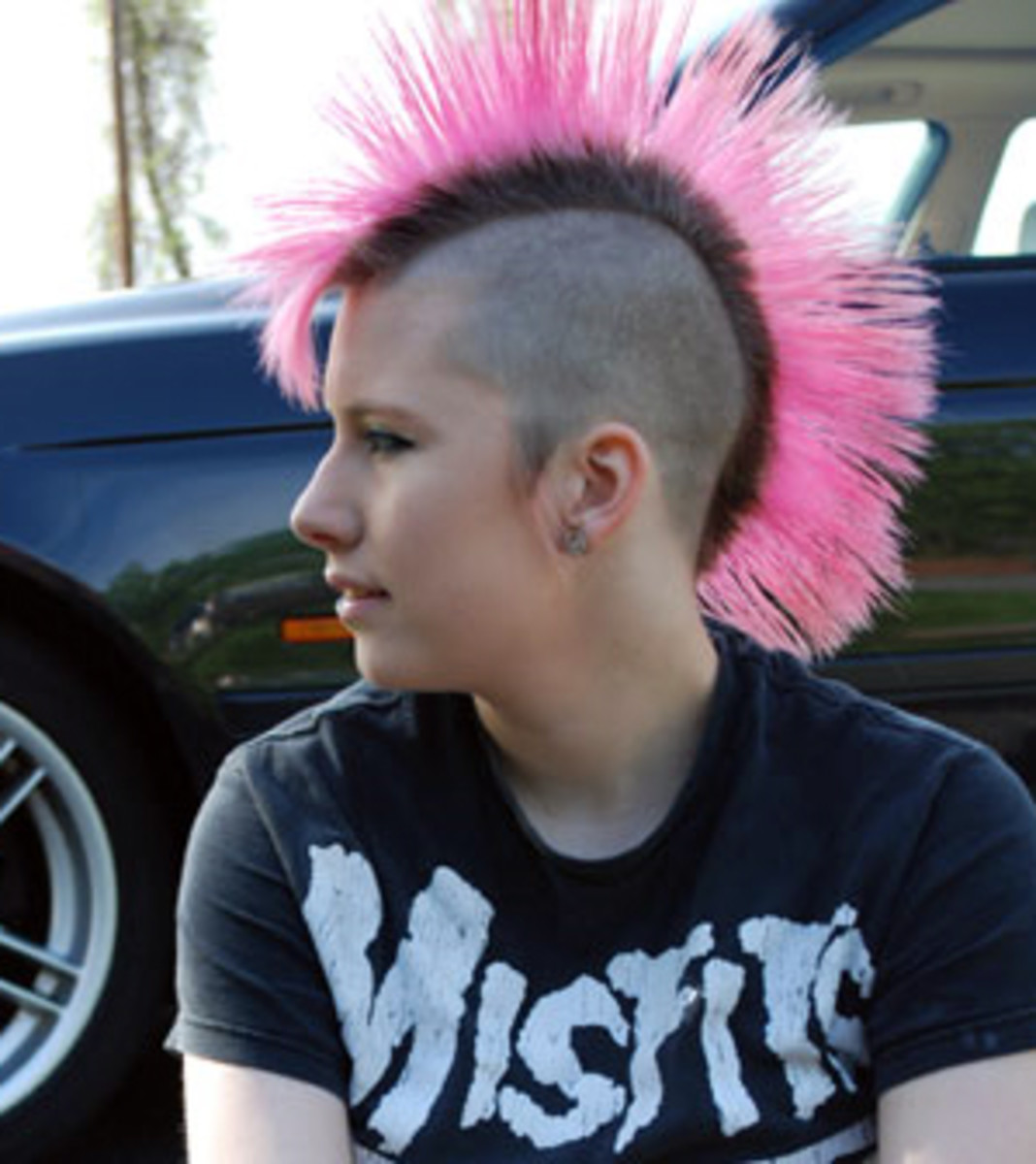 A more traditional (lol) punk rock mohawk.