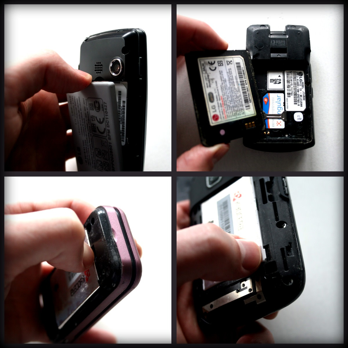 Each of these phones had fairly easy to spot access grooves. I was able to remove all the case backs and the batteries with just my hands.