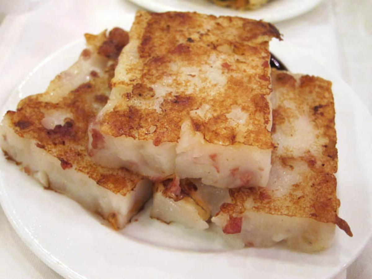 Chinese Dim Sum Turnip Cake Recipe (Low Bok Gow)