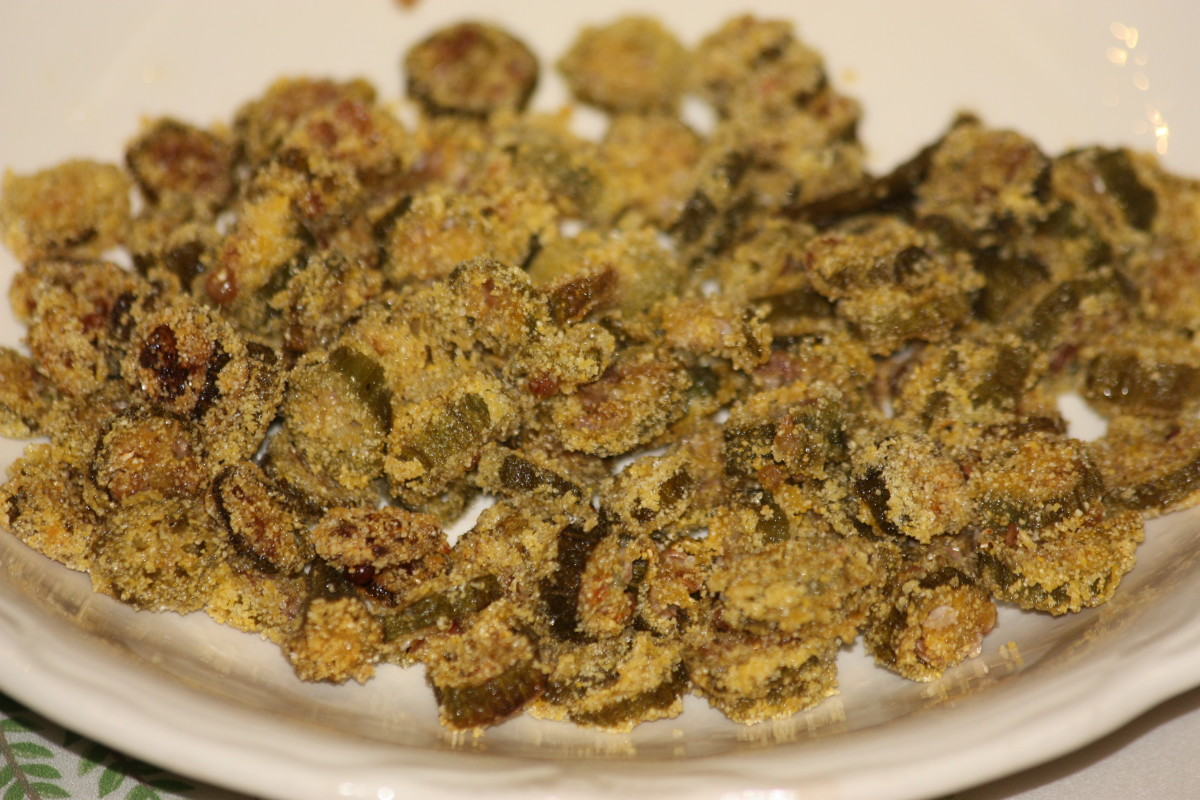 Delicious fried okra.