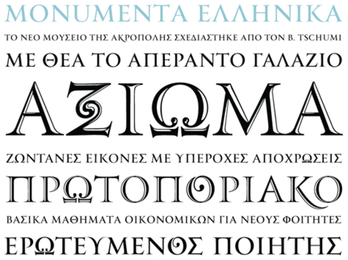 Greek Letters & Greek Fonts