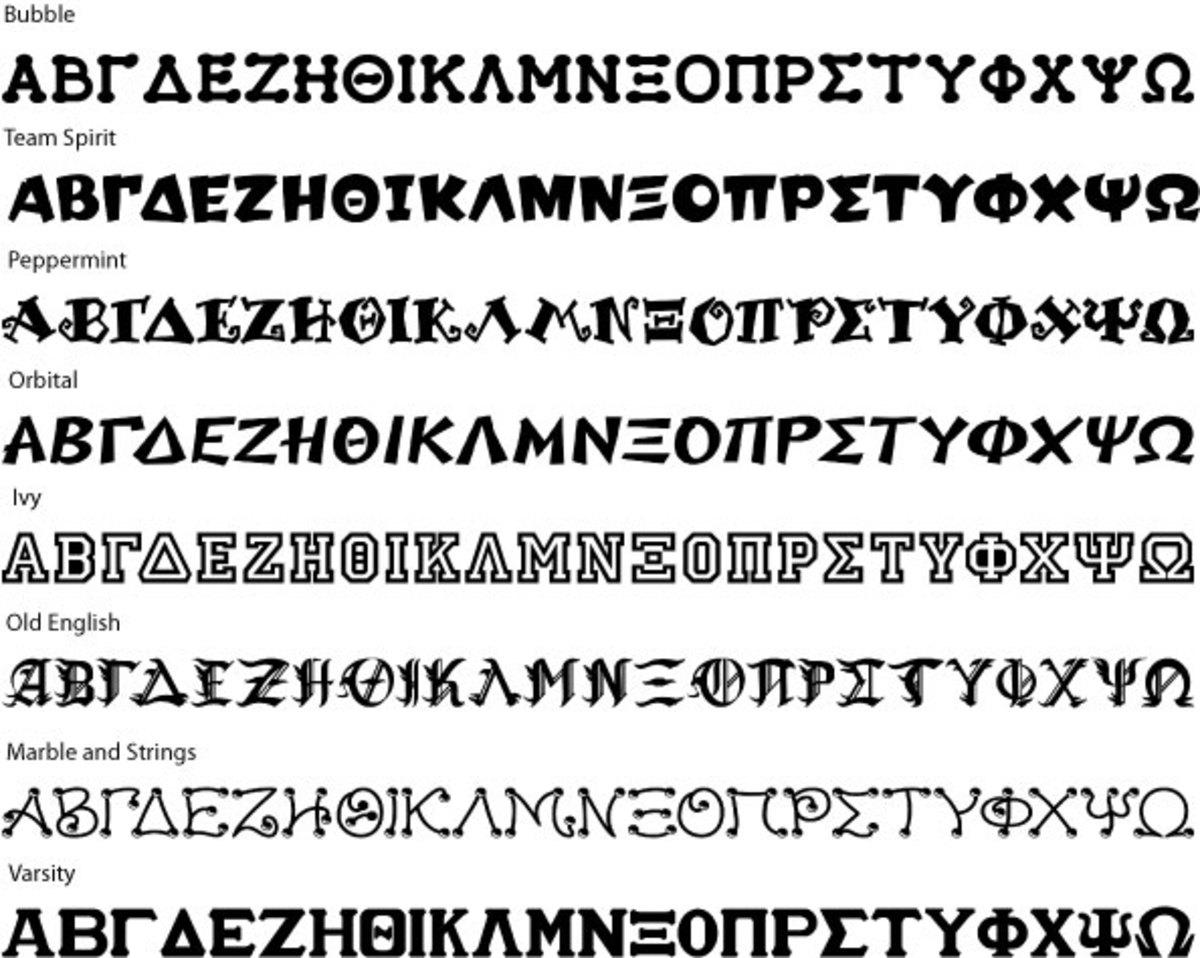 Greek Letters & Greek Fonts | hubpages