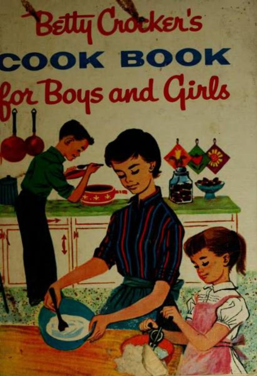 This is the cover of the 1957 Betty Crocker cookbook for children.