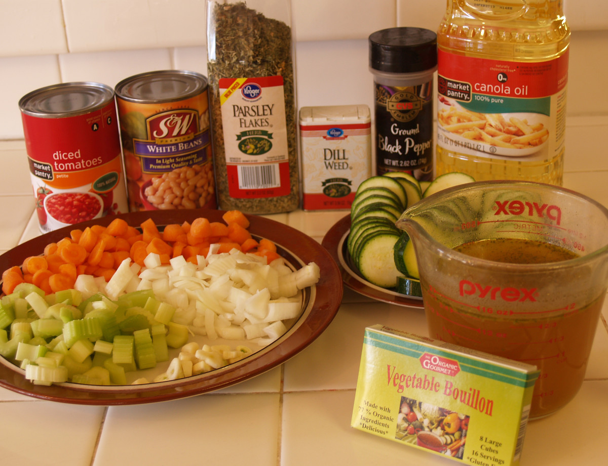 Vegan Vegetable Soup Ingredients