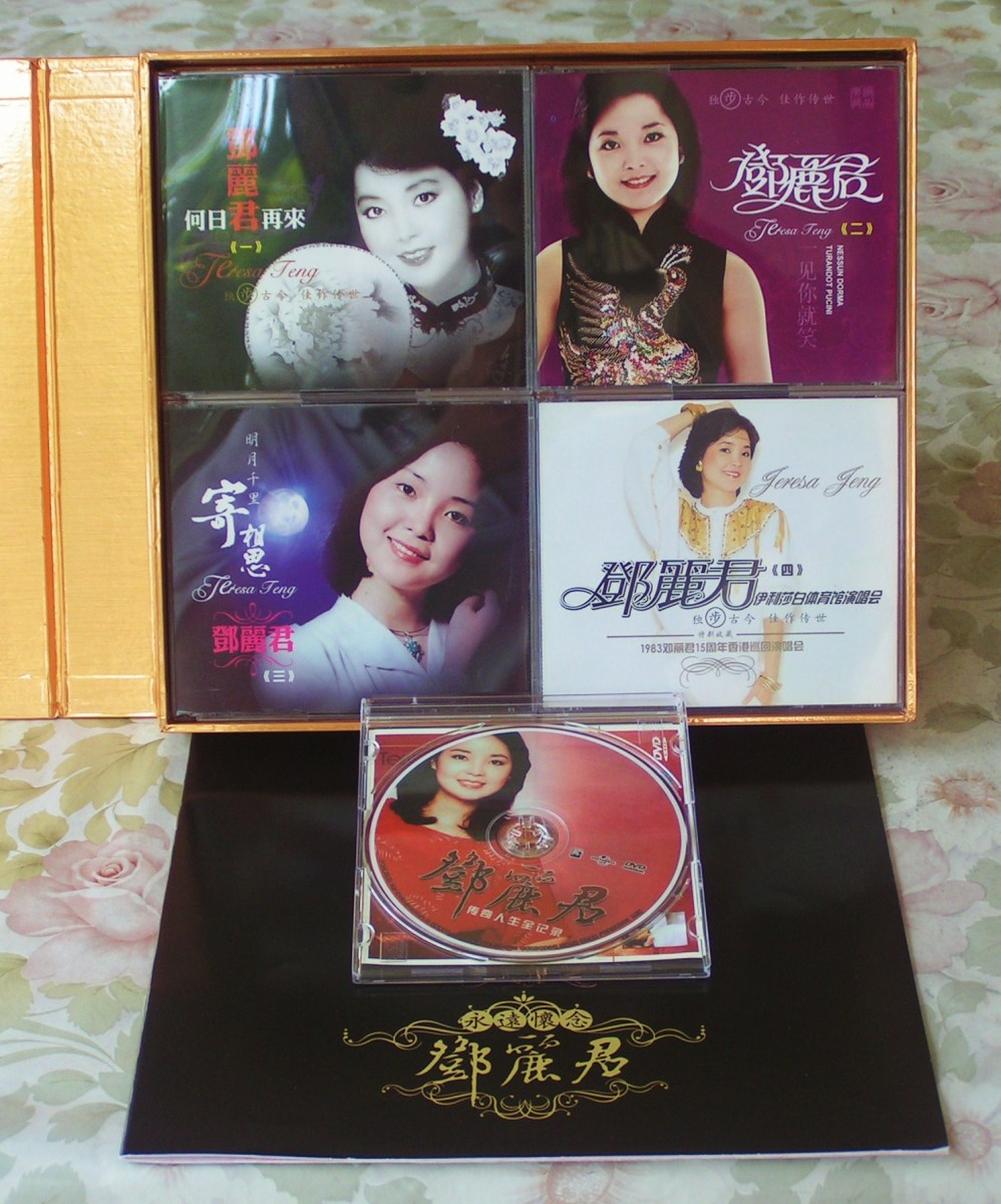 Inside the box; CDs, Dvds, and the autobiography book.