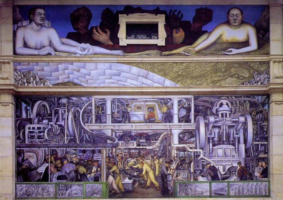 Mural by Diego Rivera at the Detroit Institute of Arts 1932-33  South Wall detail