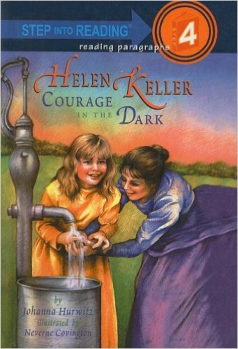 Helen Keller: Courage in the Dark (Step Into Reading: A Step 4 Book) by Johanna Hurwitz - Image is from amazon.com