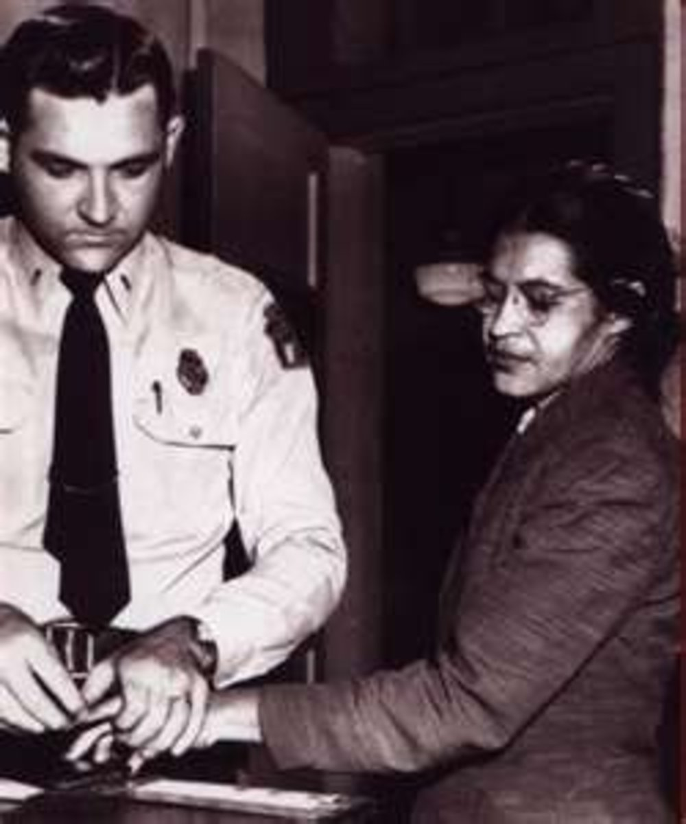 Image credit of Rosa Parks getting fingerprinted: http://neatnik2009.wordpress.com/2010/01/31/feast-of-rosa-parks-october-24/