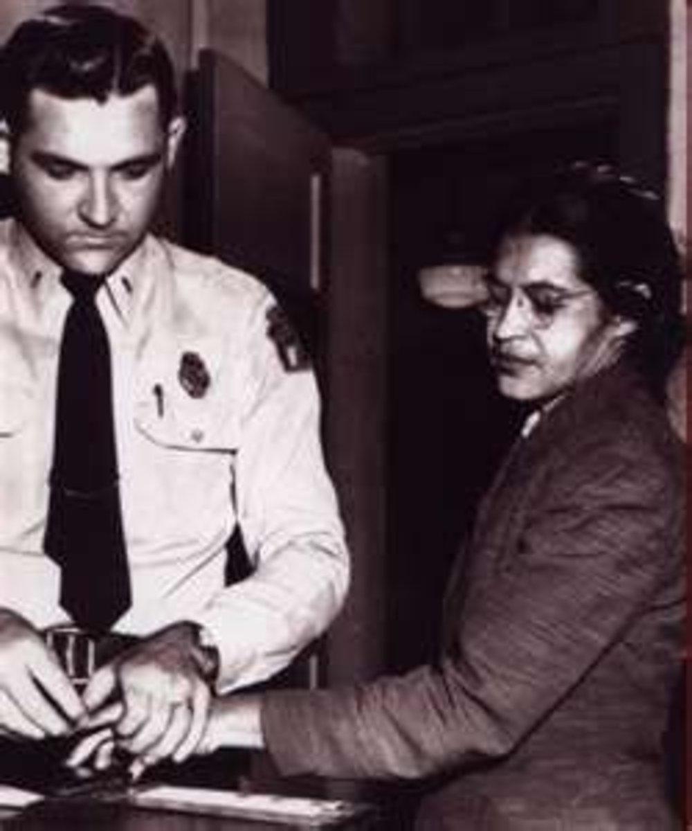 Image credit of Rosa Parks getting fingerprinted: http://neatnik2009.wordpress.com/2010/01/31/feast-of-rosa-parks-october-24/