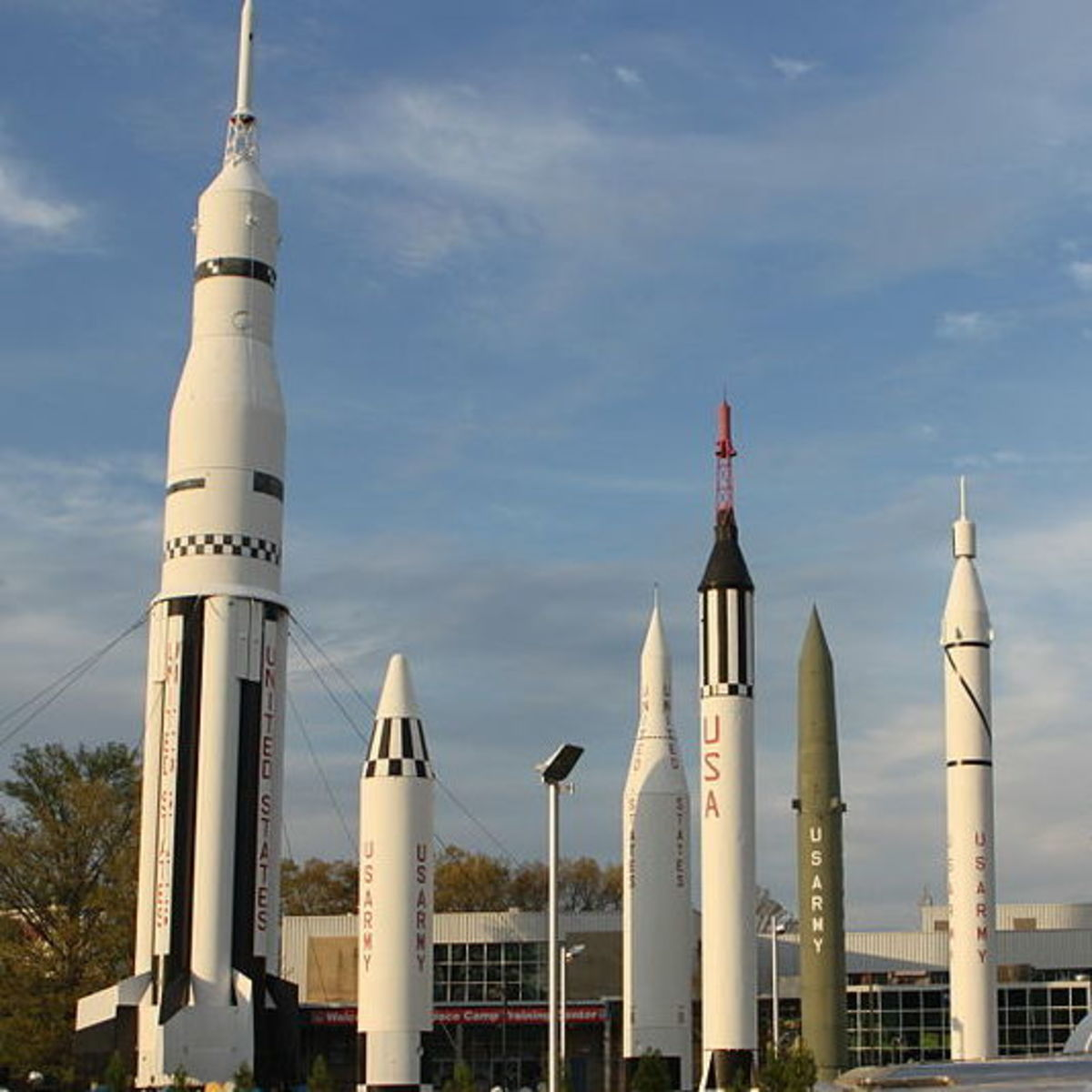 Some of the rockets in the U.S. Space & Rocket Center