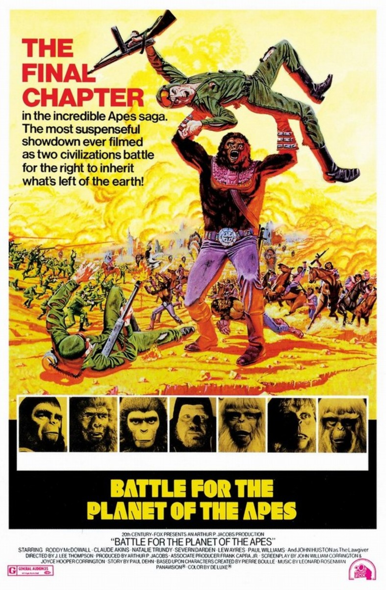 Battle for the Planet of the Apes (1973) art by Frank McCarthy