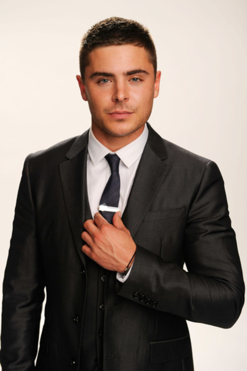Zac Efron with buzz cut