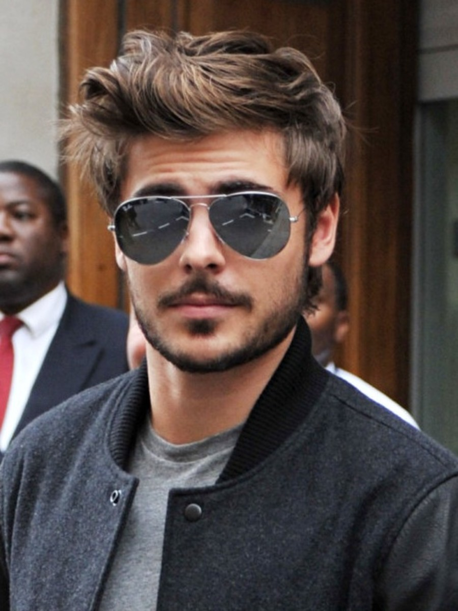 Zac Efron with facial hair