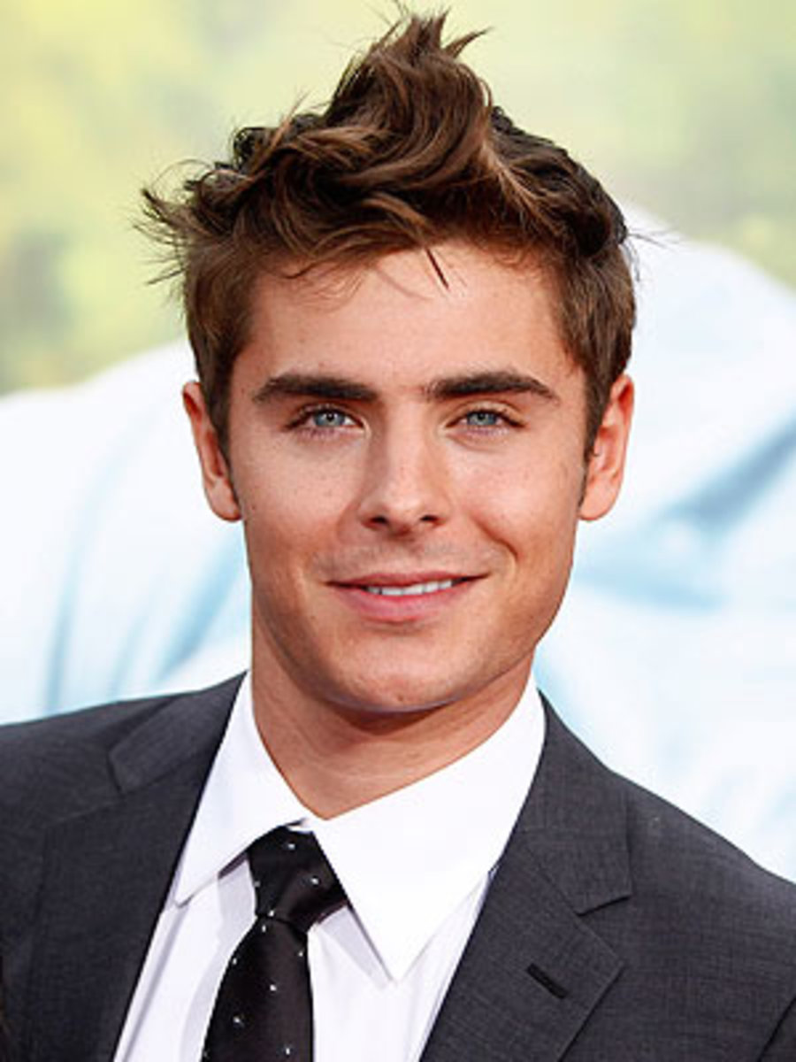Zac Efron with short haircut
