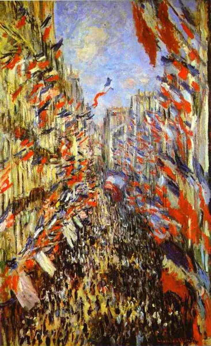 Claude Monet, Rue Montorgueil, Paris, Festival of June 30, 1878.