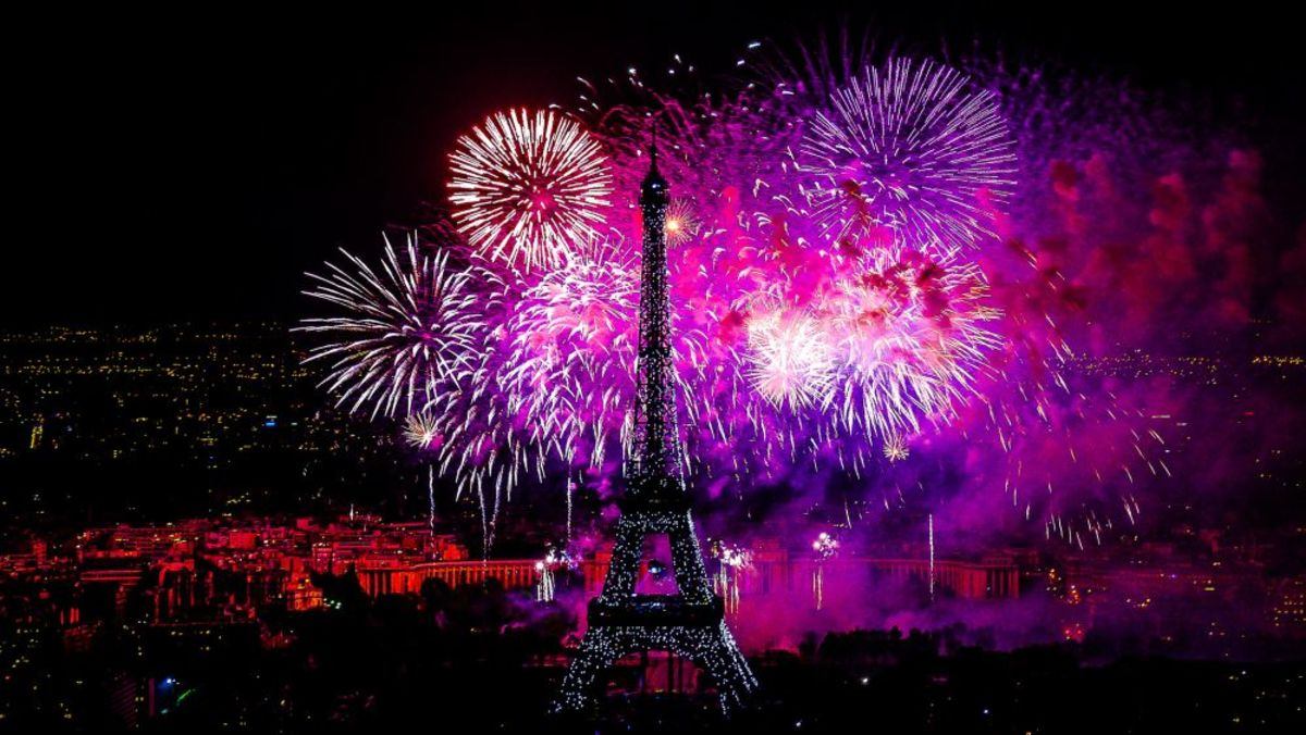 Fireworks on the Eiffel Tower 14 juillet 2012