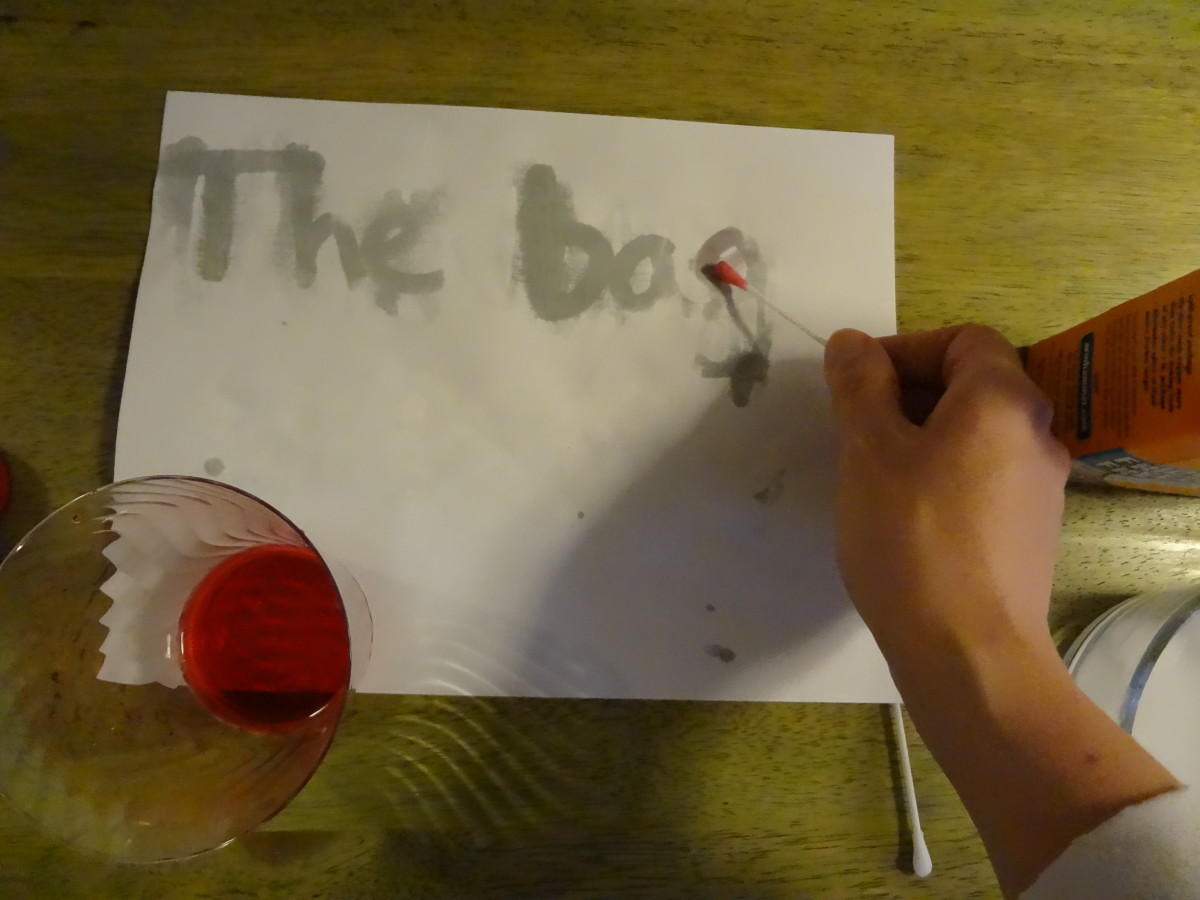Rubbing juice over the paper will cause the message to appear.