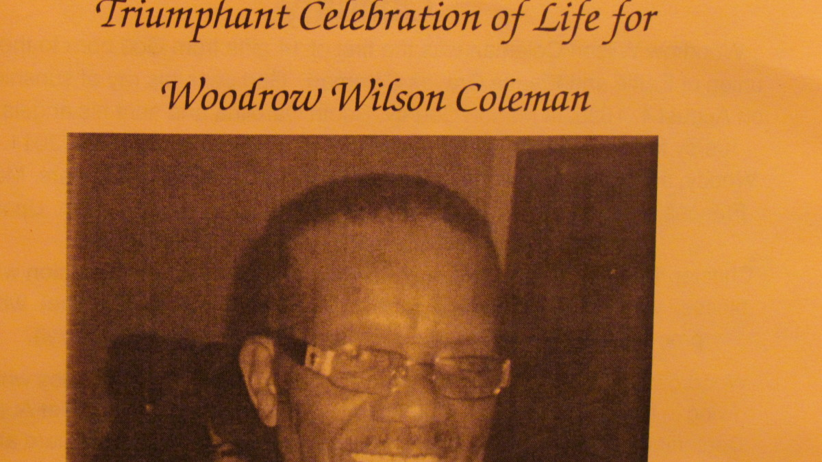 Obituary of my brother, Woodrow Wilson Coleman, who died May 25th, 2011. It is my hope to see him in the resurrection that Jesus spoke of in John 5:28, 29.