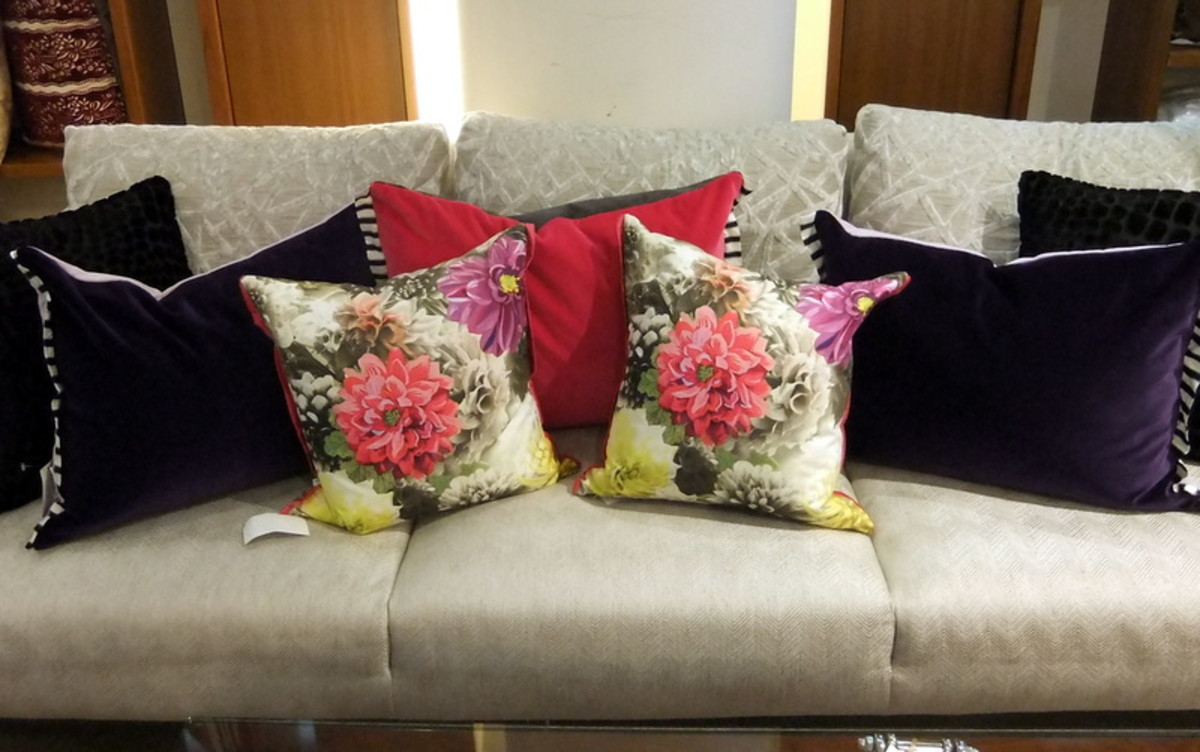 3. Throw cushions or pillows come in many designs and shapes. Use them well.