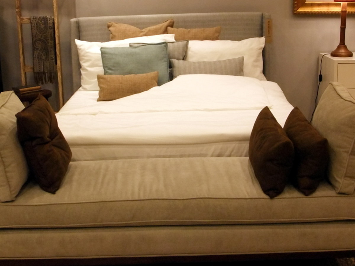 16. Throw cushions for bed and bed stool, don't have to color match