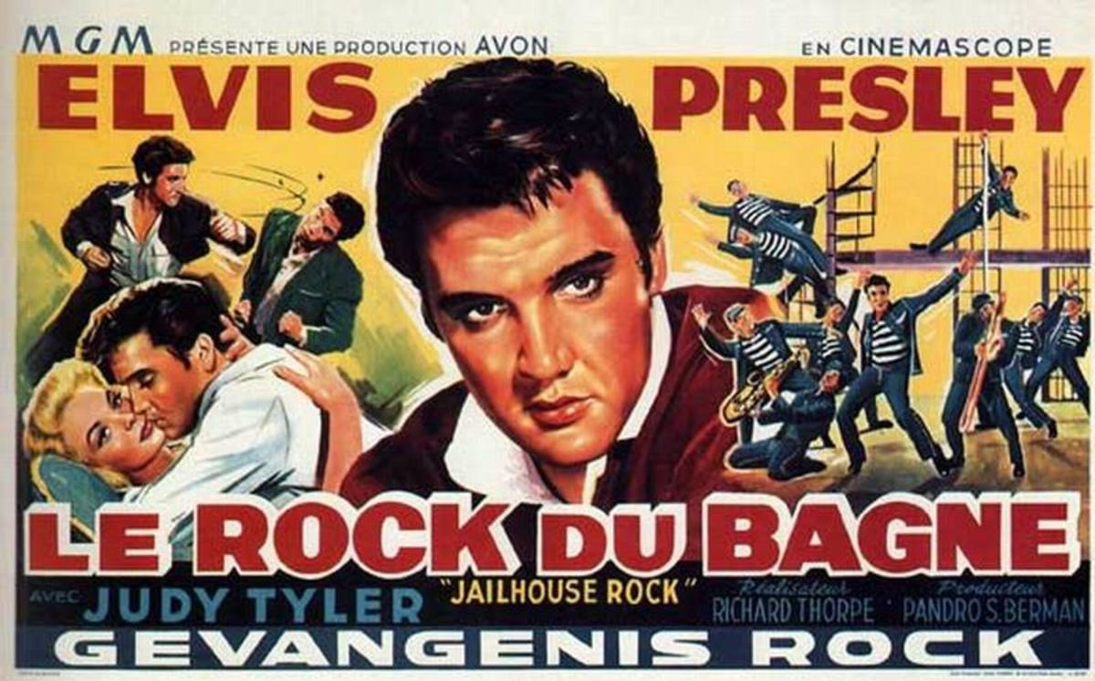 Jailhouse Rock 1957 Belgian poster