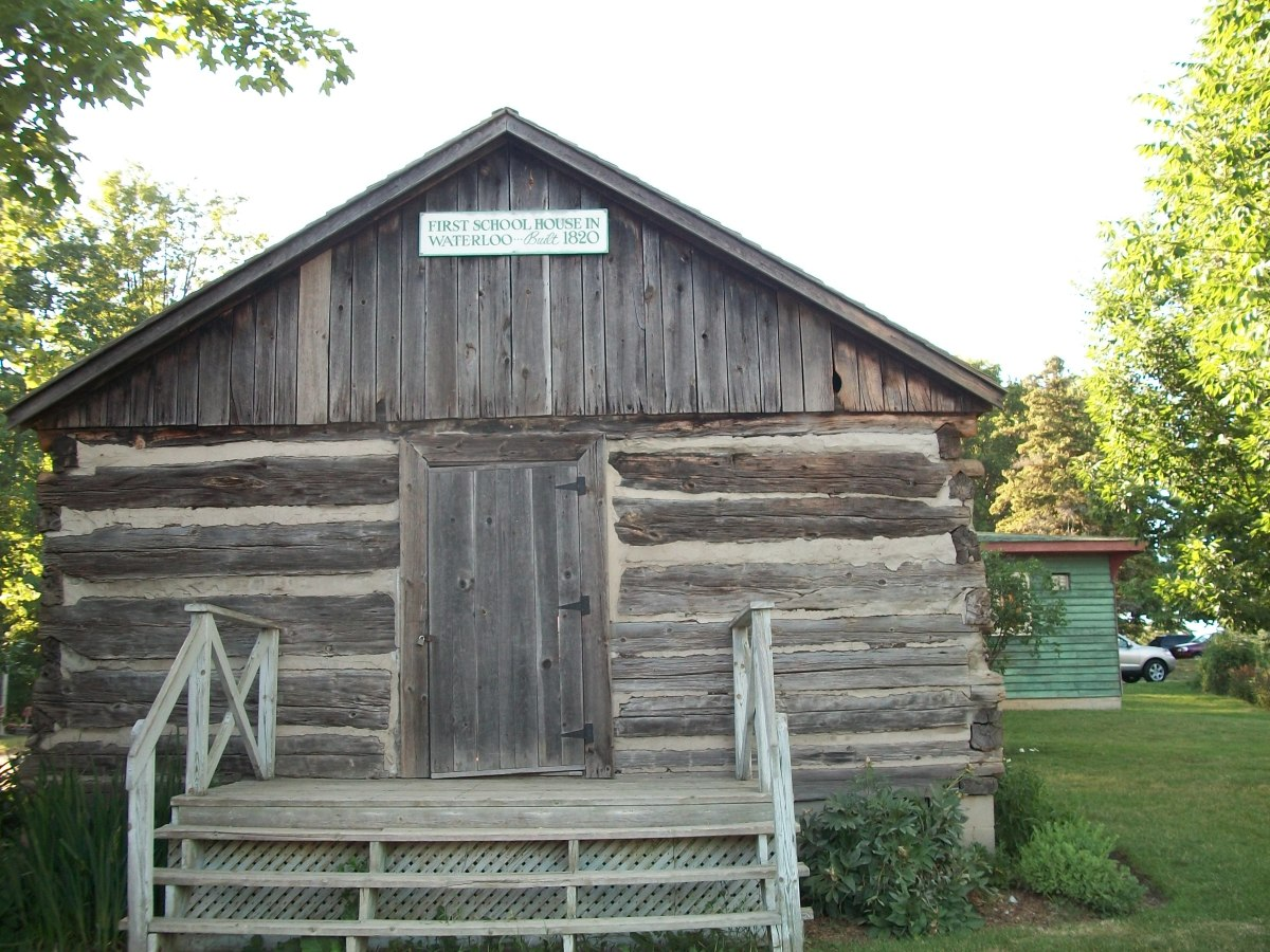 Waterloo's first Schoolhouse, 1820, in Waterloo Park