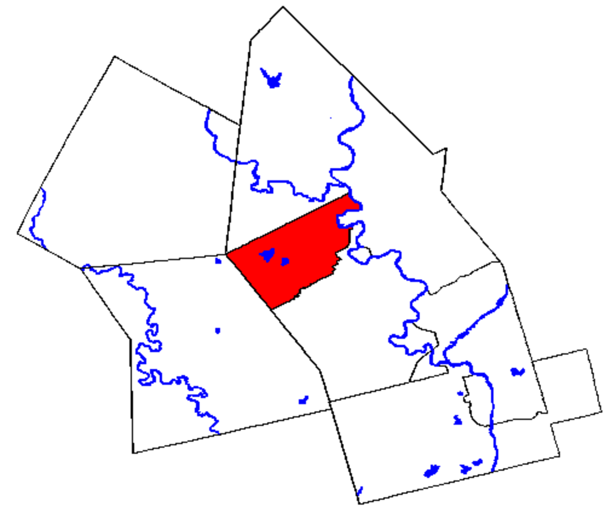 Map location of Waterloo, Ontario