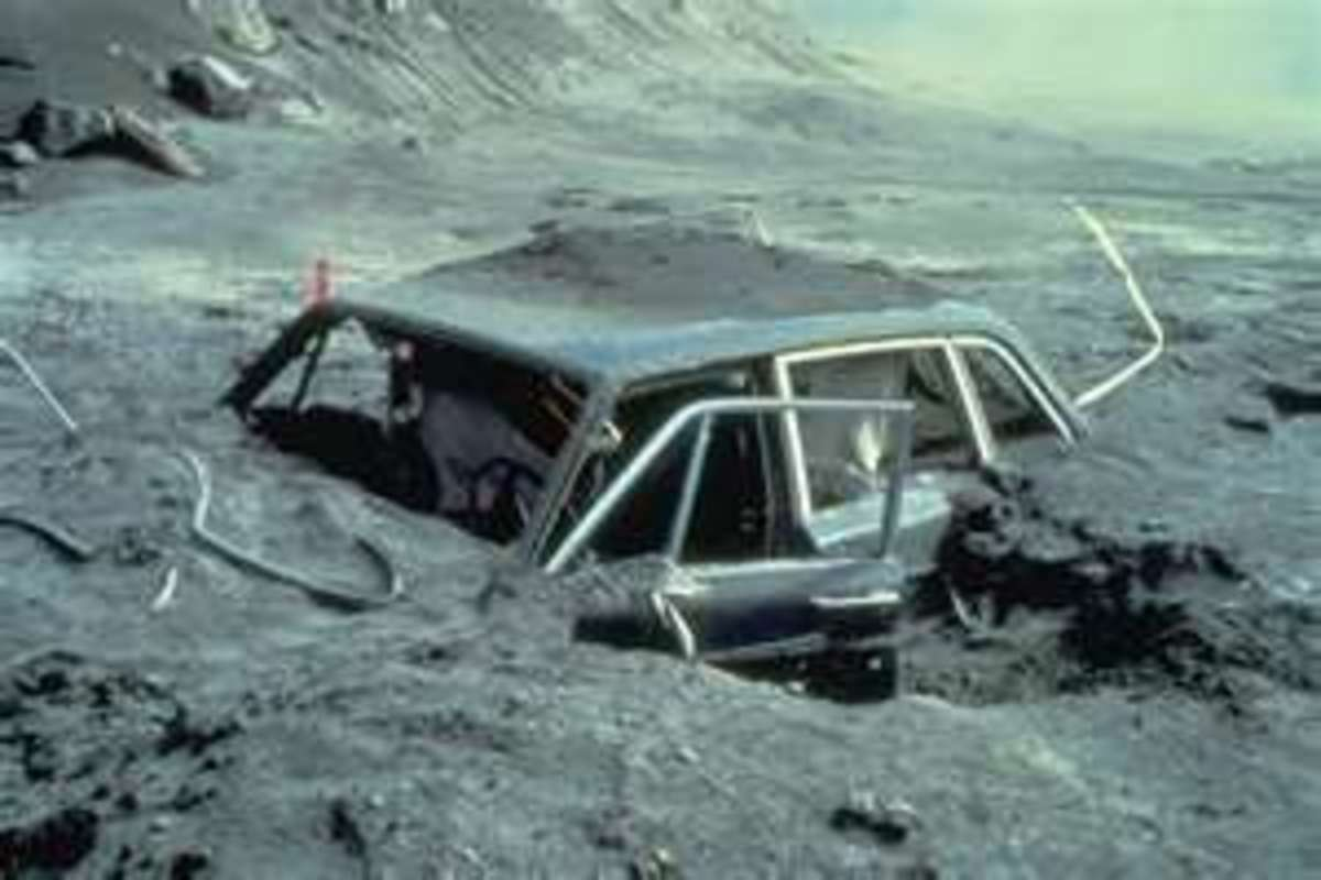 Destruction from Mt. St. Helens