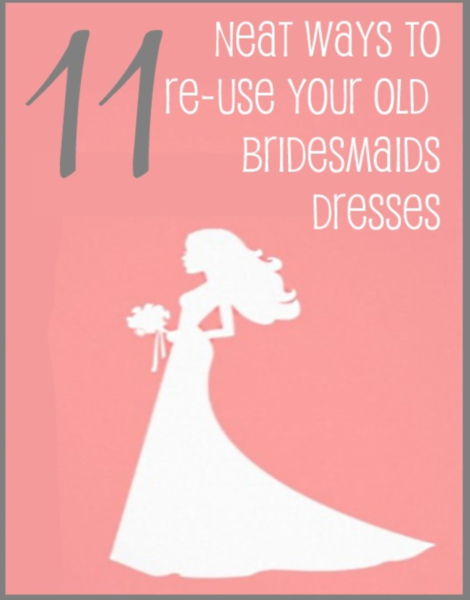 11 Neat Ways to Upcycle Your Old Bridesmaids Dresses