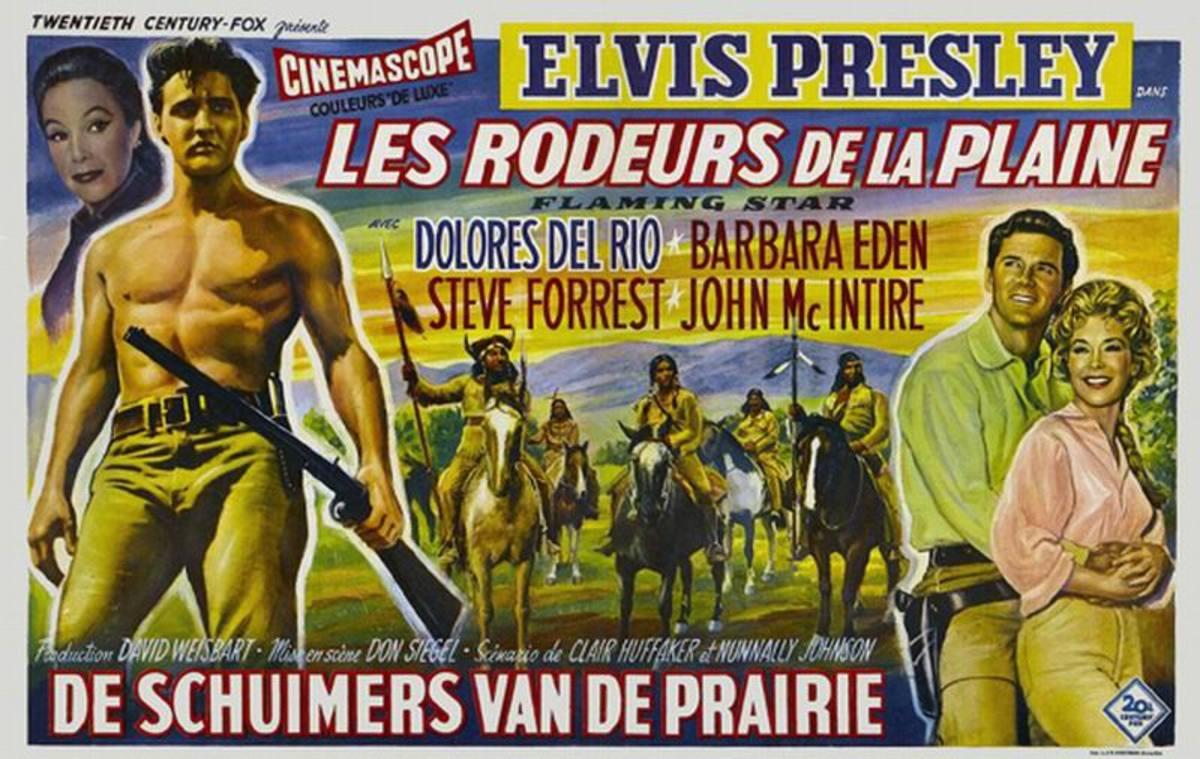 Flaming Star (1960) Belgian poster