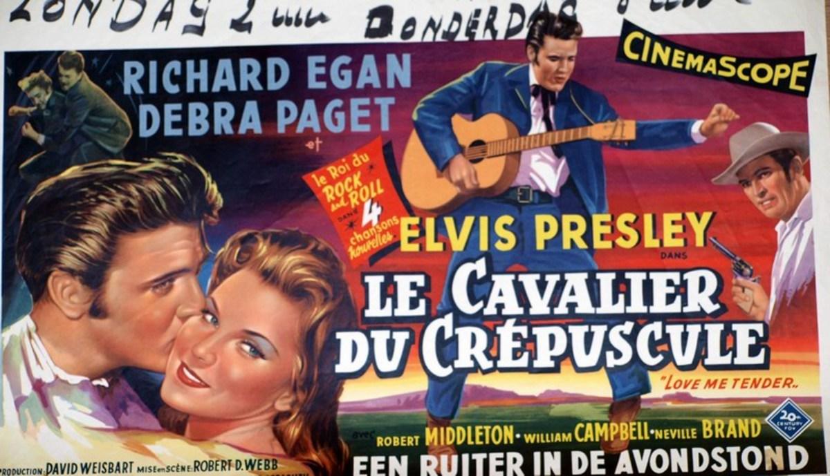 Love Me Tender 1956 Belgian poster