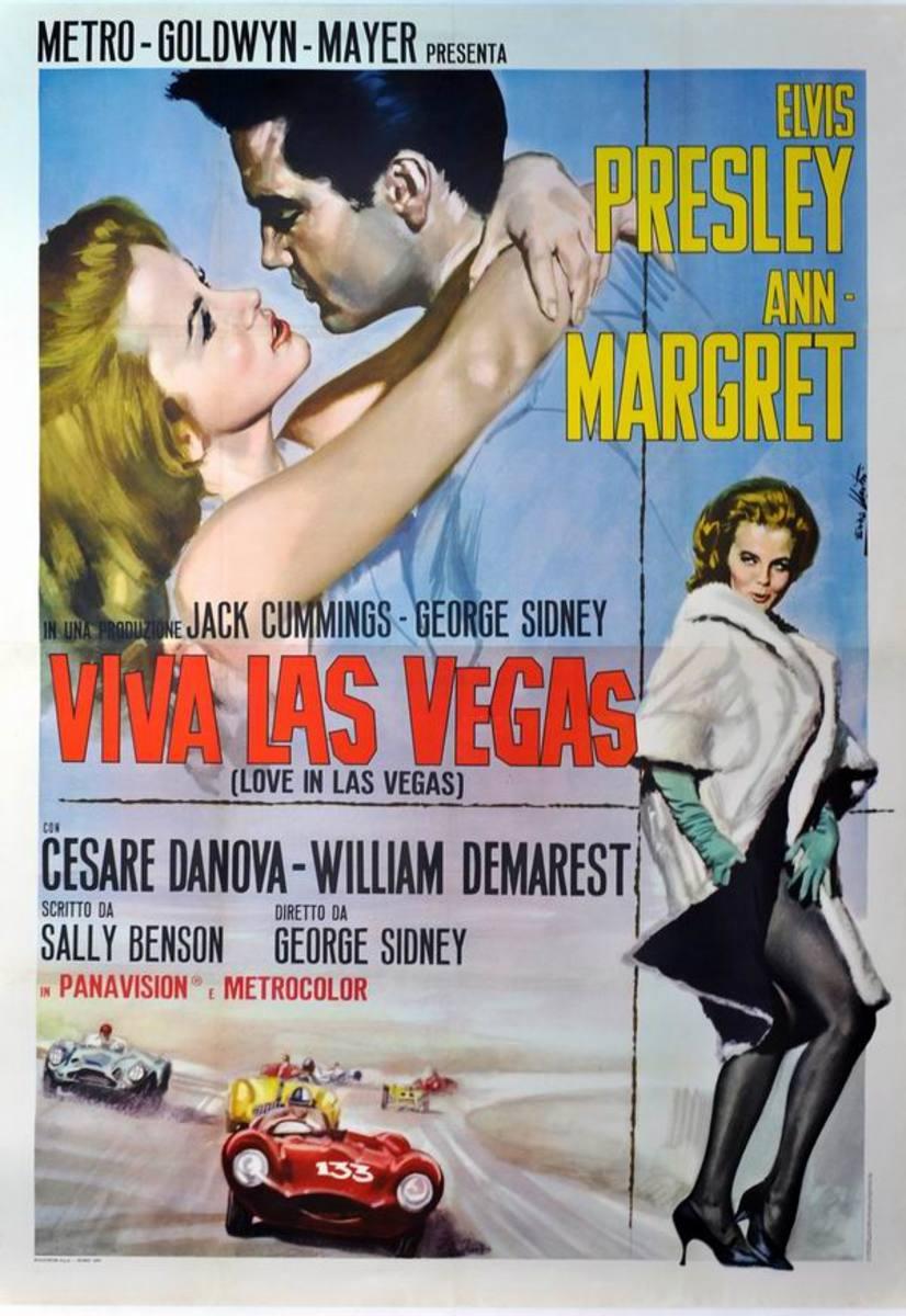 Viva Las Vegas 1964 Italian poster