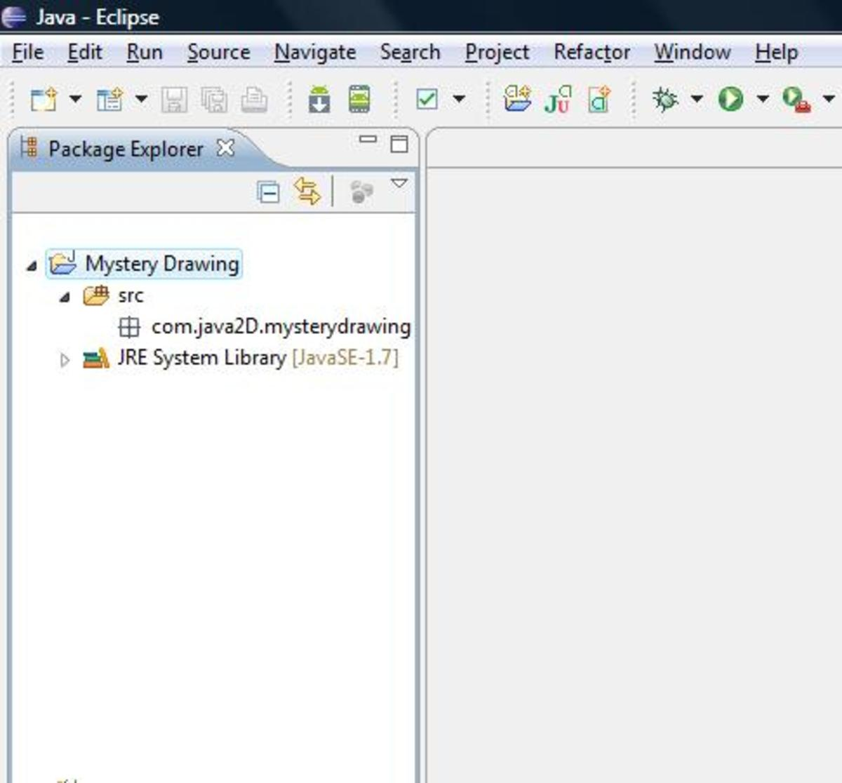Screenshot: Package Explorer