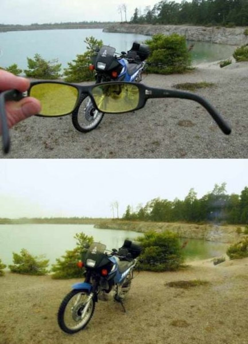 High-contrast driving eyeglass demo