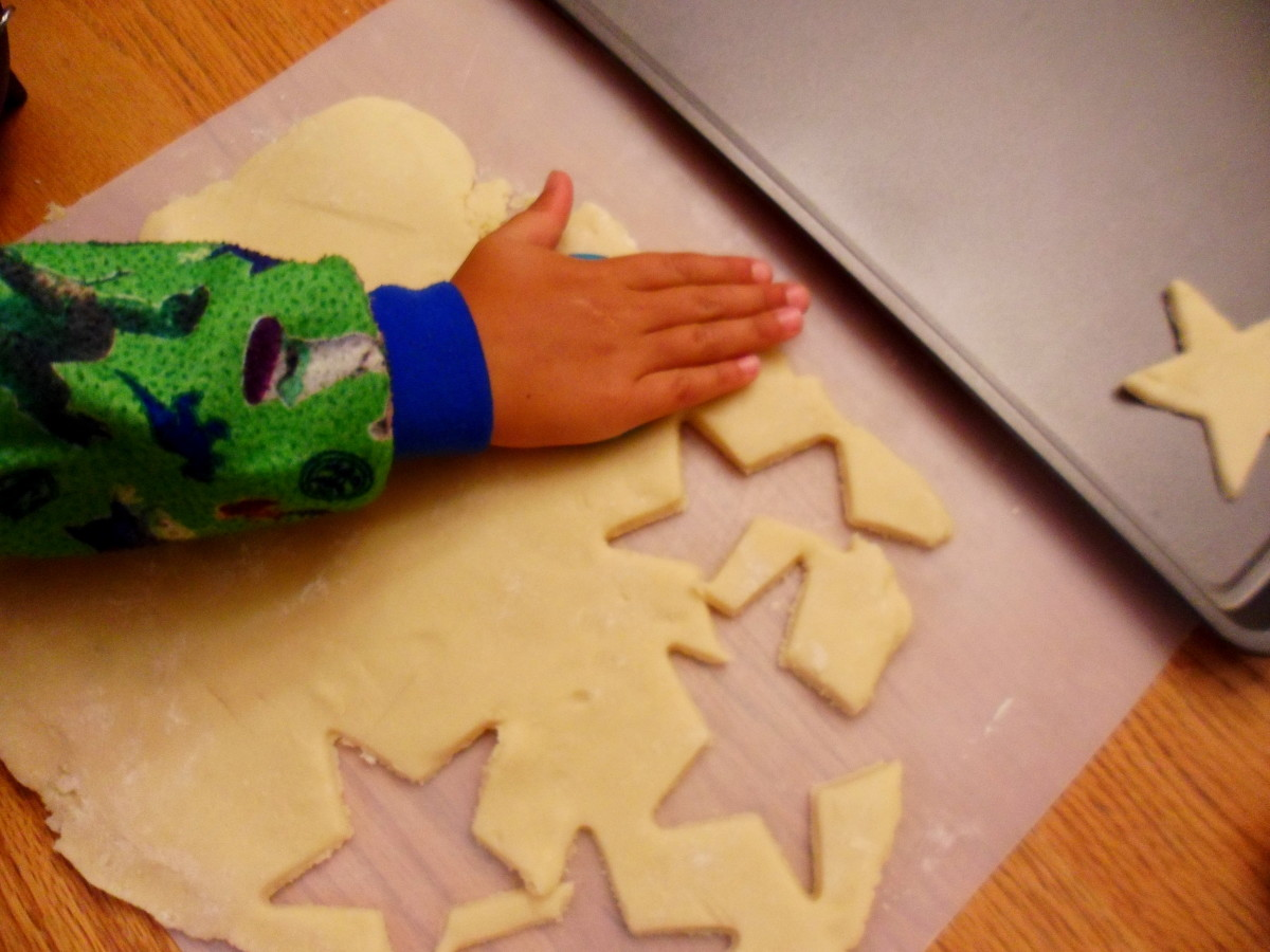 Use cookie cutters to cut out special shapes.