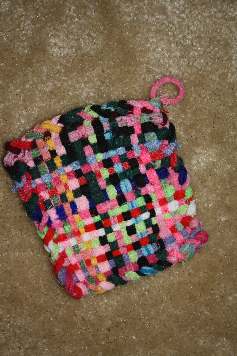 One of our many finished potholders