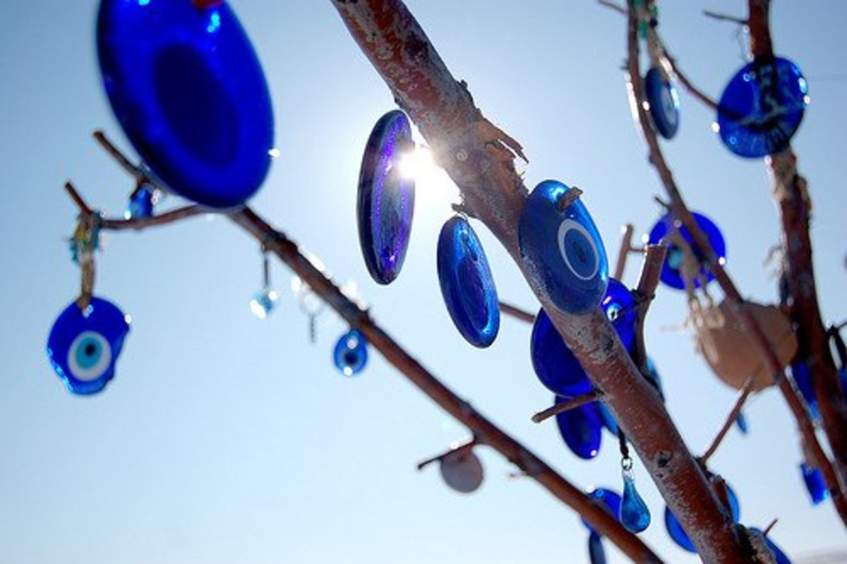 A Tree Decorated with Evil Eye Amulets