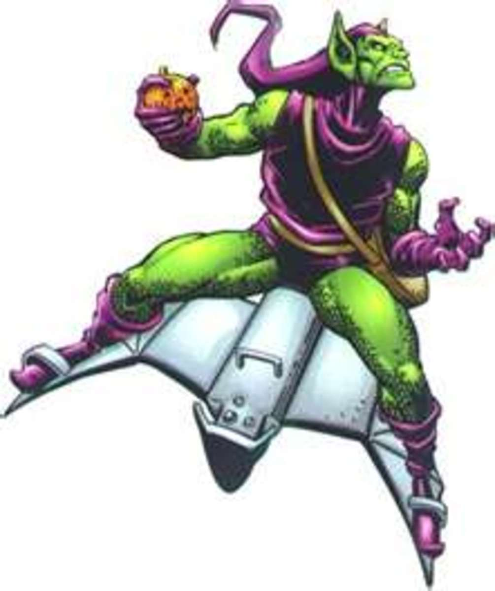 The Green Goblin is the most known foe of the Spiderman and is quite possibly the most deranged.