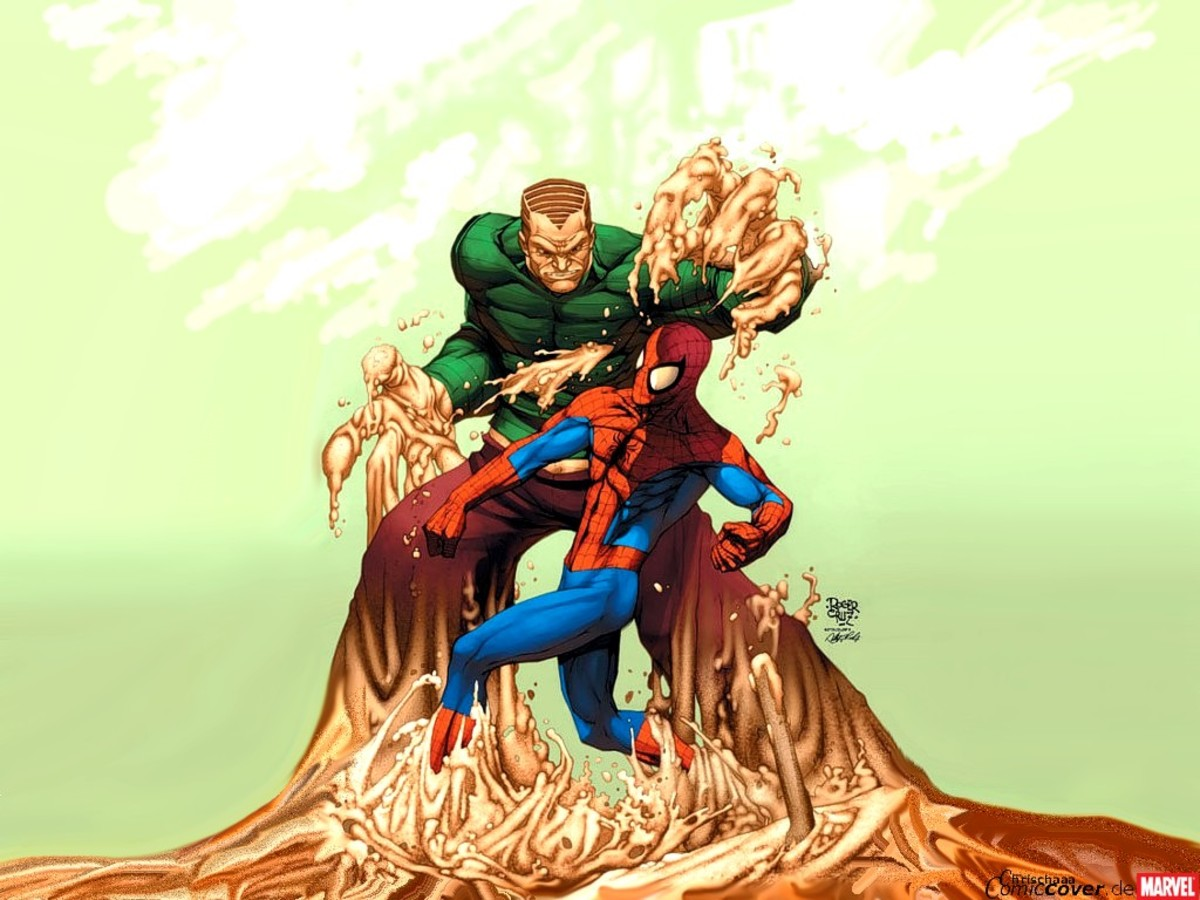 The Sandman battles Spiderman